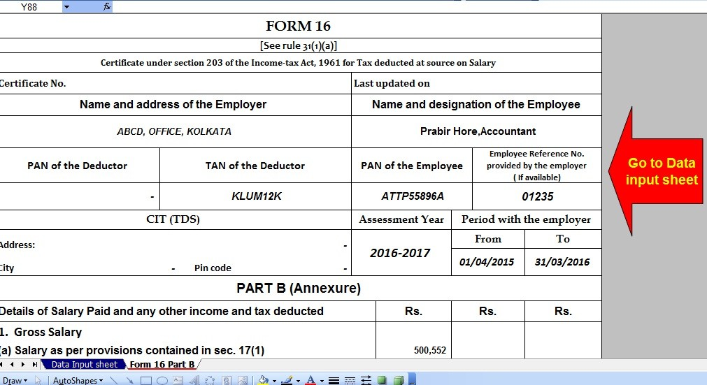 income tax form 16 software download  Download Automated Income Tax Form 16 Part B for F.Y.2015 ..