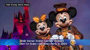 Disney Cancels Mickey's Not-So-Scary Halloween Party In 2020 [Video]