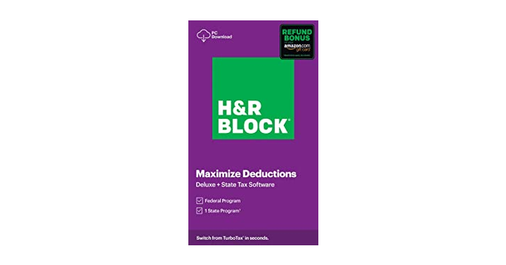 H&R Block Tax Software Deluxe + State 2020 – Just $22.49!