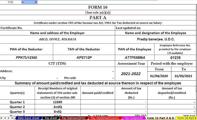 https://taxexcel.in/Income Tax Form 16 Part A&B