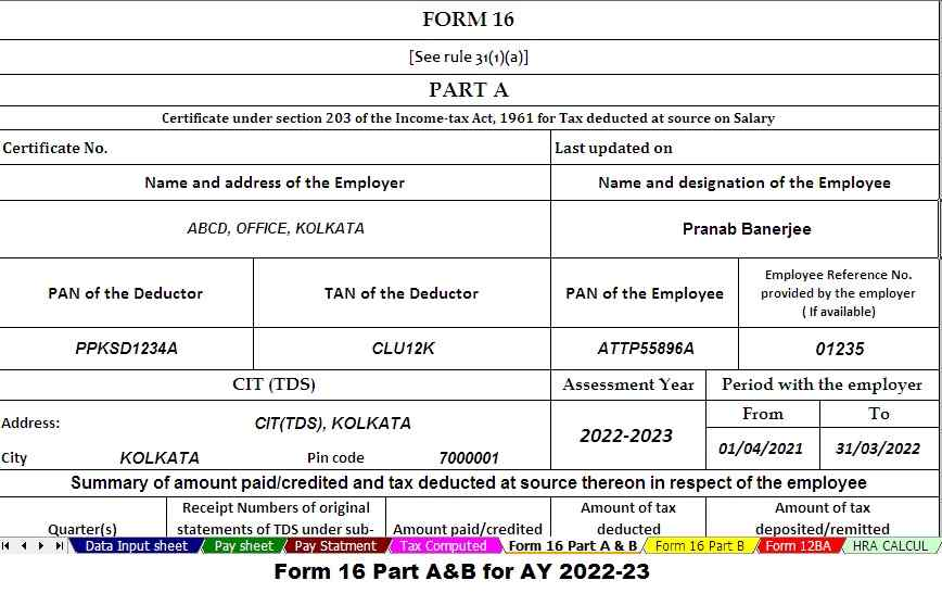 https://simpletaxindian.com/Income Tax Form 16 Part A