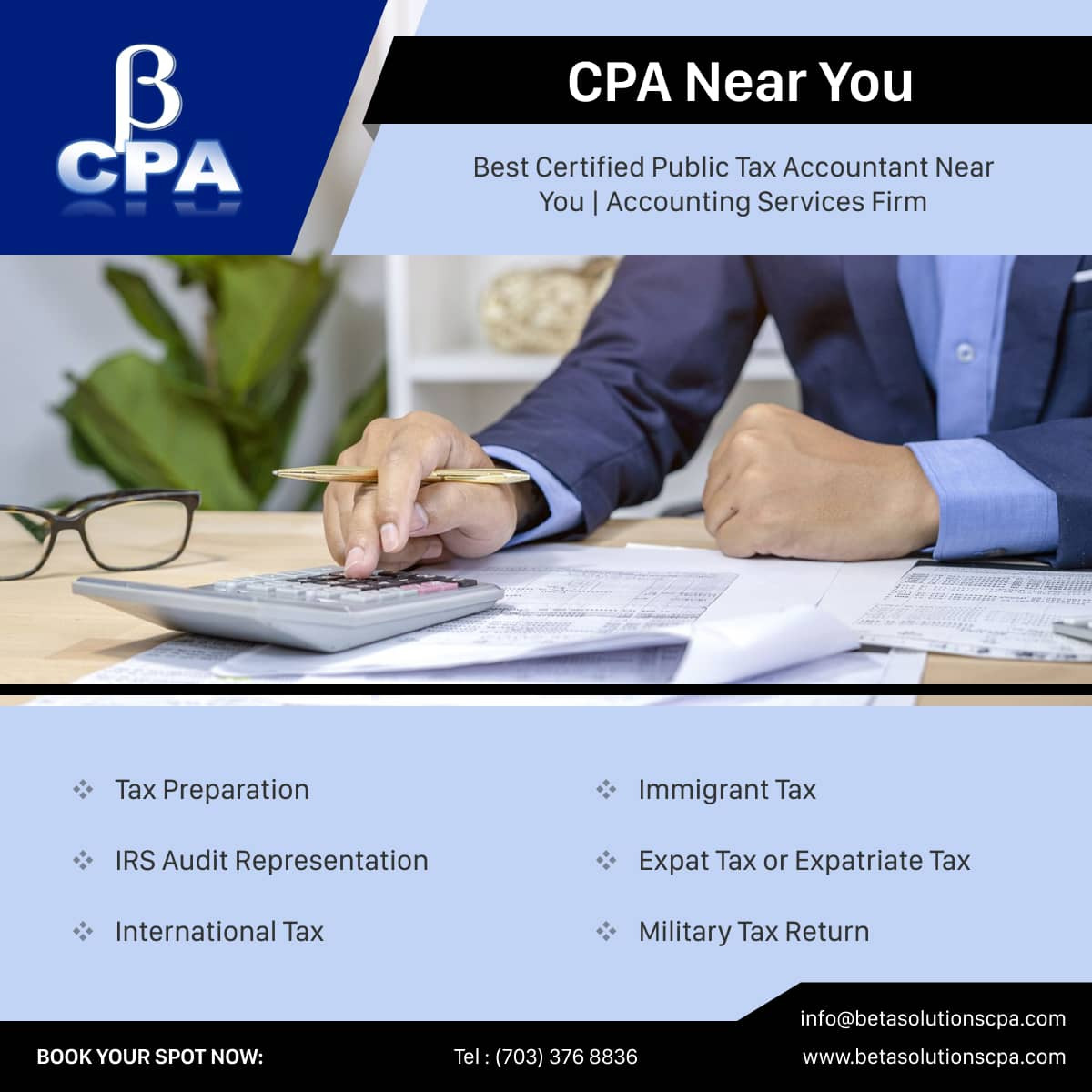 Military Tax Return & Tax Preparation Services from Beta Solutions CPA