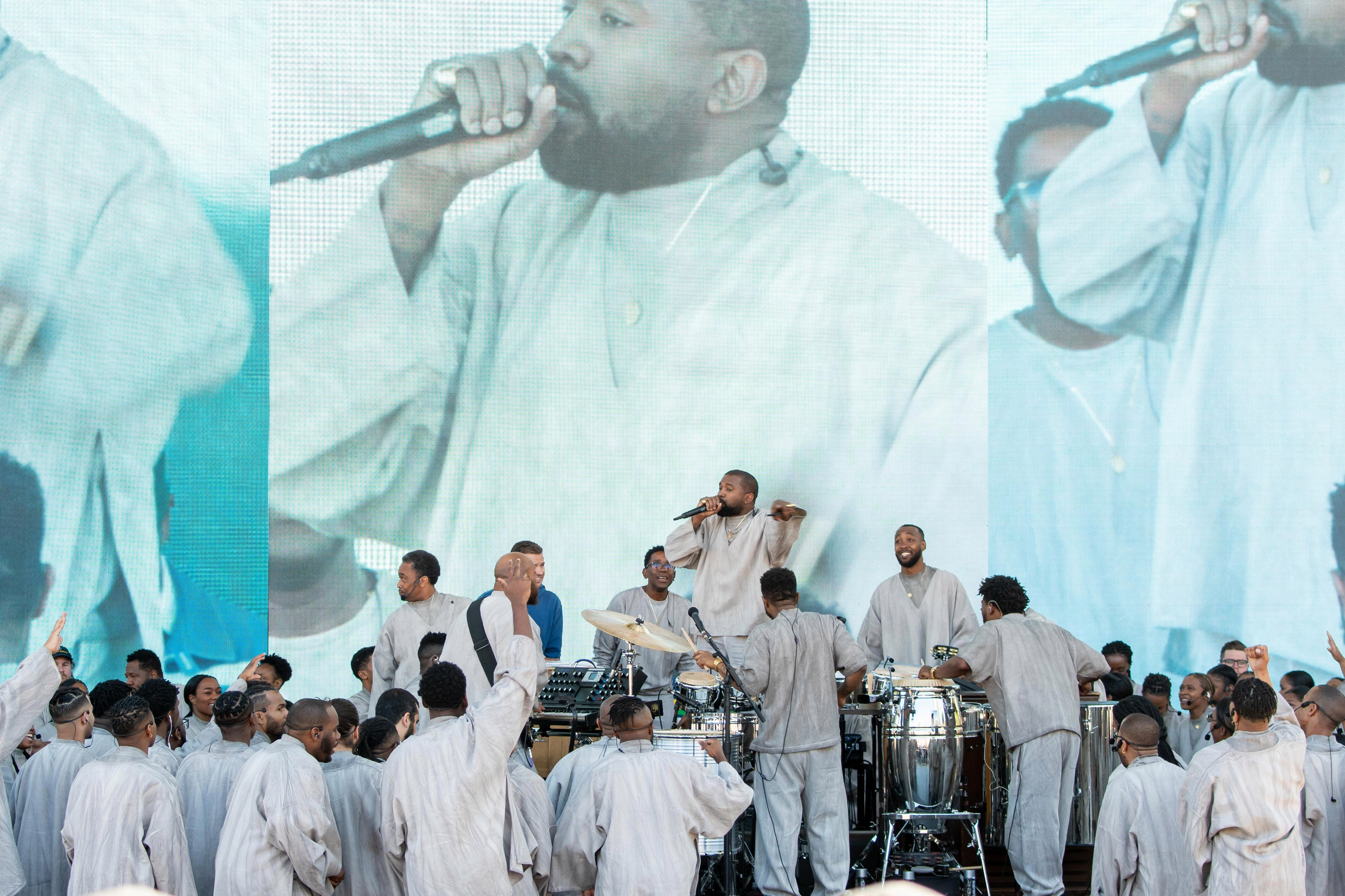 Ye performed huge concerts with the Sunday Service Choir ahead of his album release for Jesus Is King