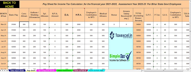 https://taxexcel.in/Salary Structure of Bihar State Employees