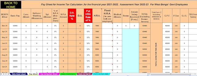 Income Tax Rates of old and new tax regimes for A.Y 2022-23. With Automated Income Tax Preparation Software in Excel for the F.Y.2021-22 and A.Y.2022-23
